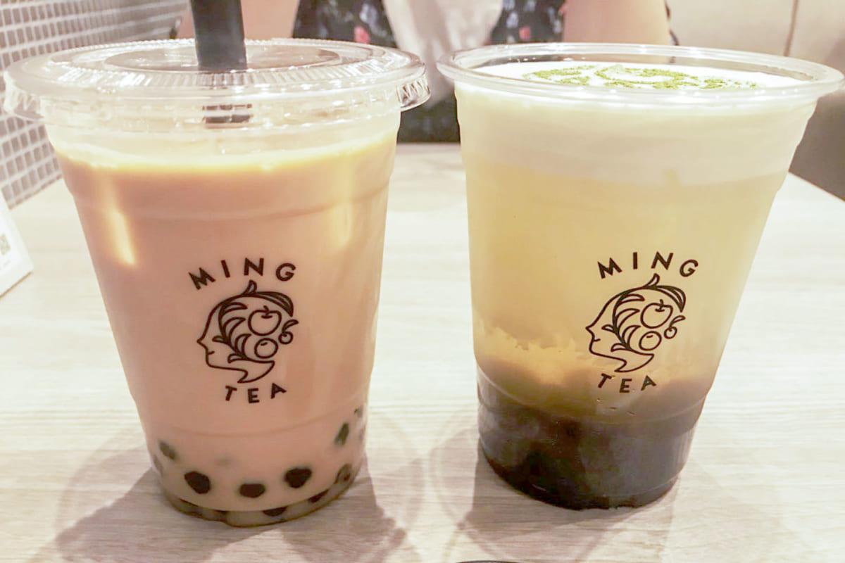 アッサム紅茶ミルクティー(ICE)、グリーン(ICE)