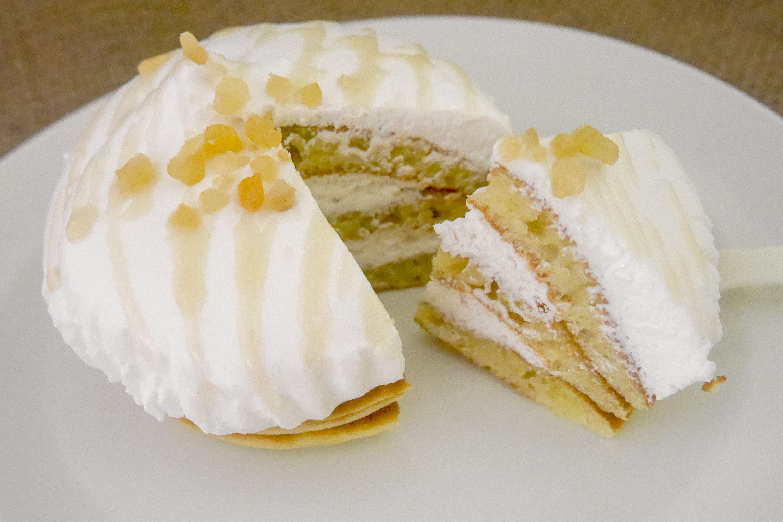 ココナッツミルククリームのパンケーキ 断面