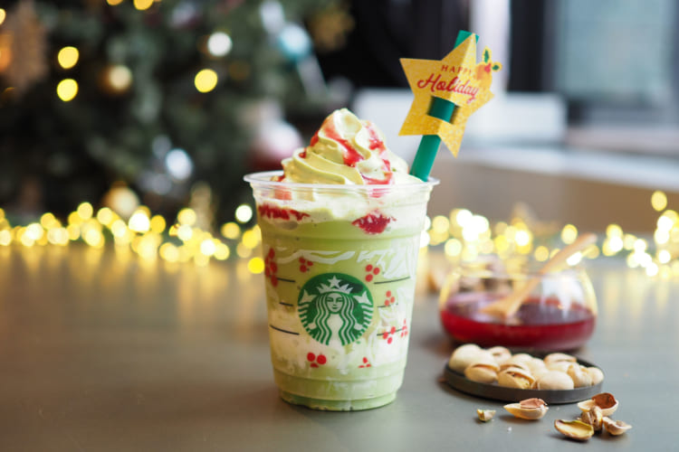 クリスマスツリーフラペチーノ
