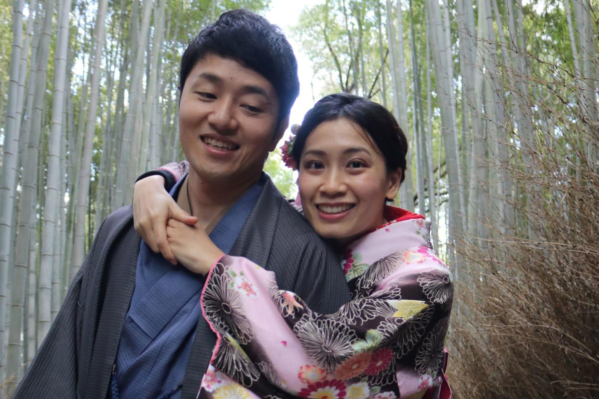 着物のカップル