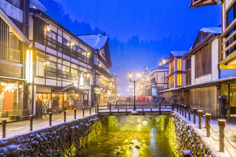 冬の温泉地