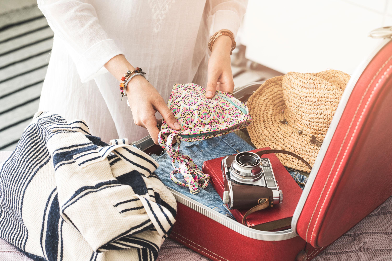 荷造りスーツケース