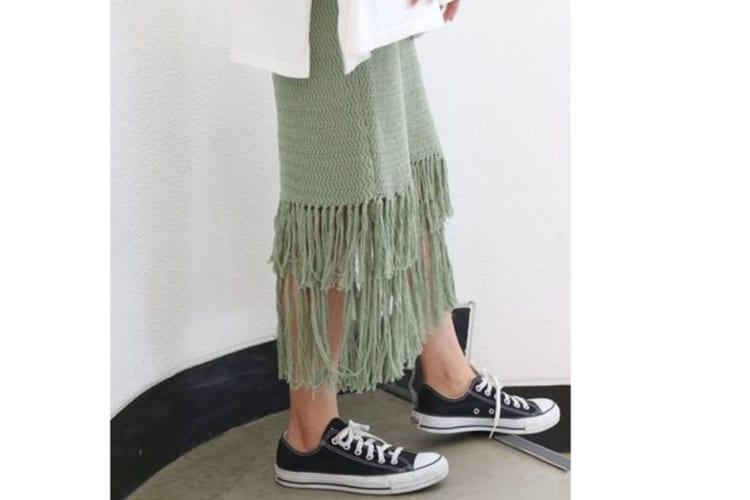 フリンジニットスカート