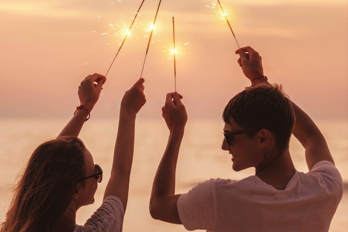 友人と花火