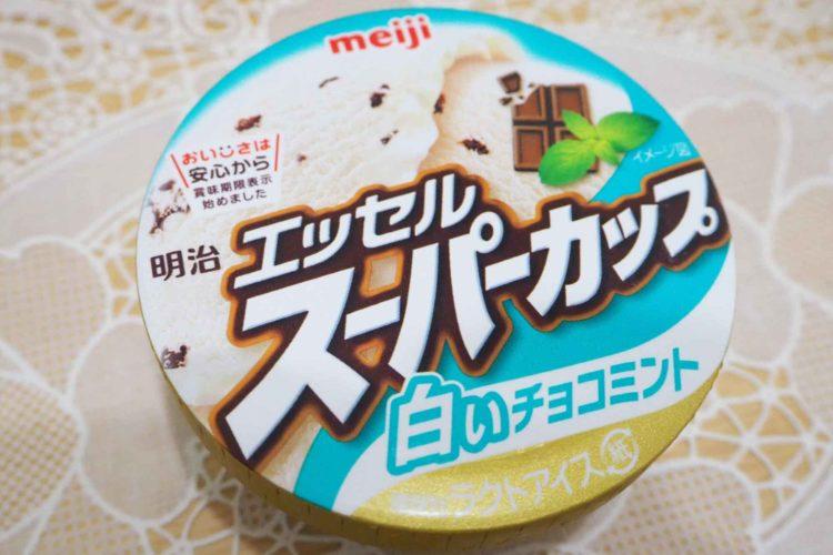 エッセルスーパーカップ白いチョコミント